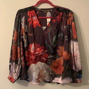 Pankaj & Nidhi Anthropologie Embellished Blouse